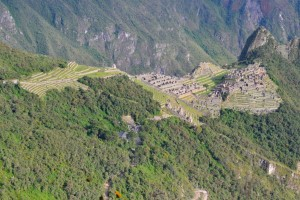 Our first view of Machu Picchu