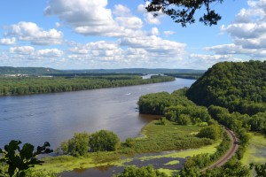 View of the Mississippi from Effigy Mounds National Monument, Iowa