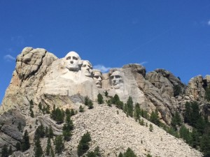Checking out Mount Rushmore