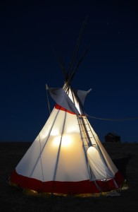 Our tipi - a fun alternative to a tent