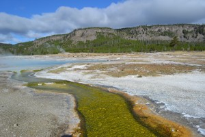 Yellowstone's volcanic landscape